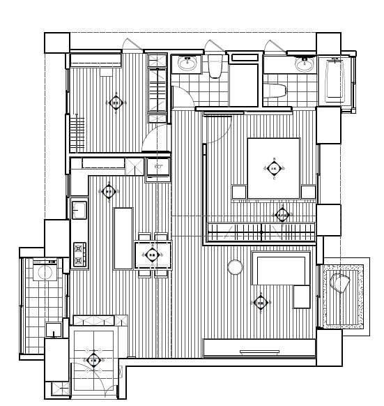 平面圖提供_震騰室內裝修設計工程有限公司。