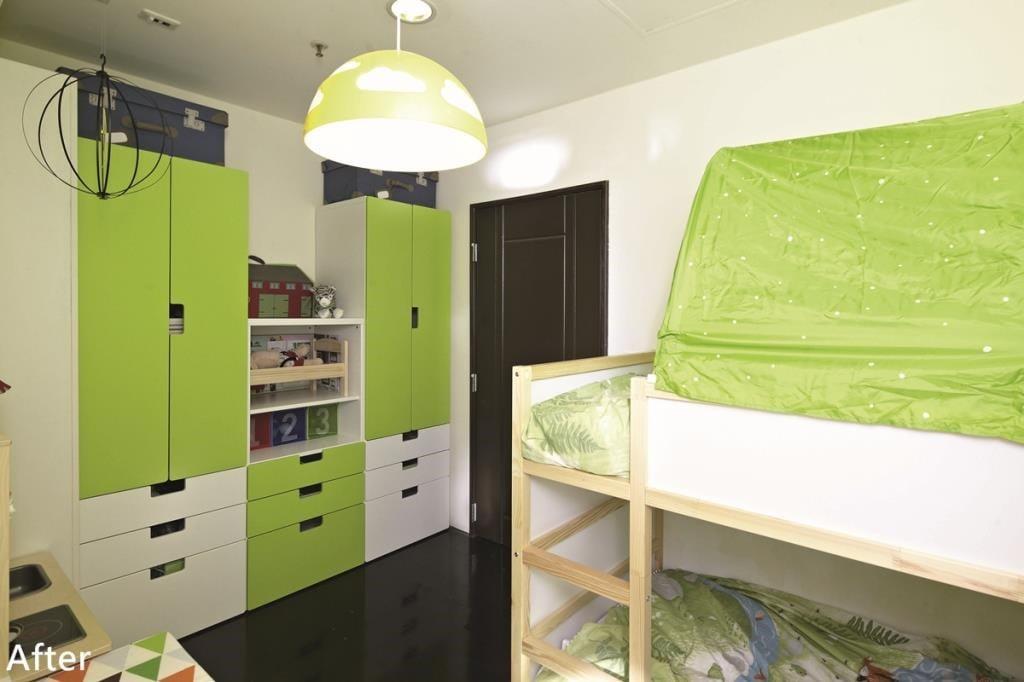 可在臥室挑選一些適合兒童高度的收納櫃、收納箱,訓練小孩自己收納的能力!※ 搭配家具家飾:STUVA 儲物組合附抽屜、TROFAST儲物組合附儲物盒、KUSINER 儲物盒、DUKTIG 迷你廚房。