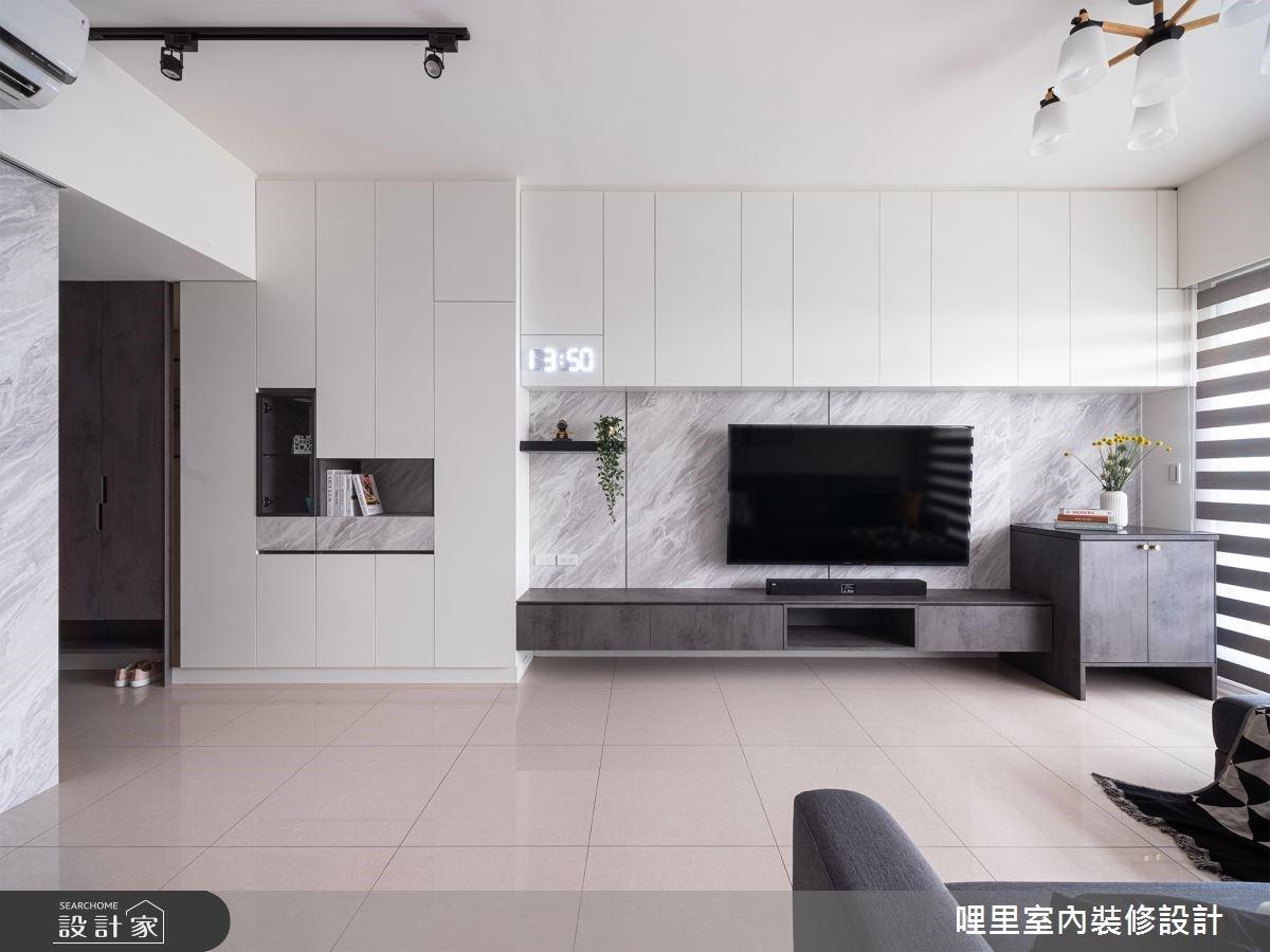 小空間也能有的寬闊感!利用系統櫃打造收納百分百的小家庭簡約居住空間