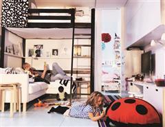 IKEA宜家家居 的 Sleeping High 高枕無憂(STORÅ黑色高腳床框)